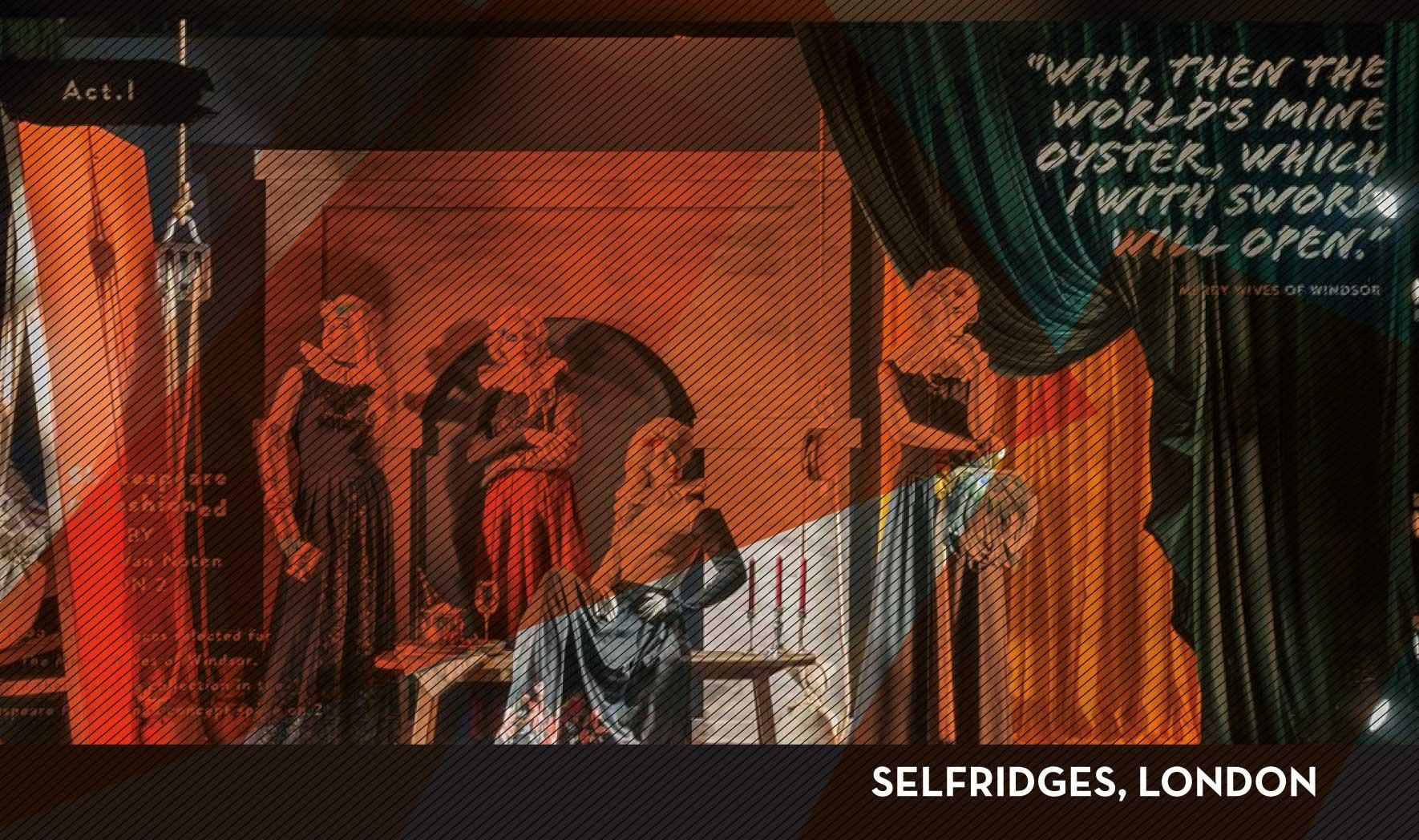 Selfridges Shakespeare Hommage